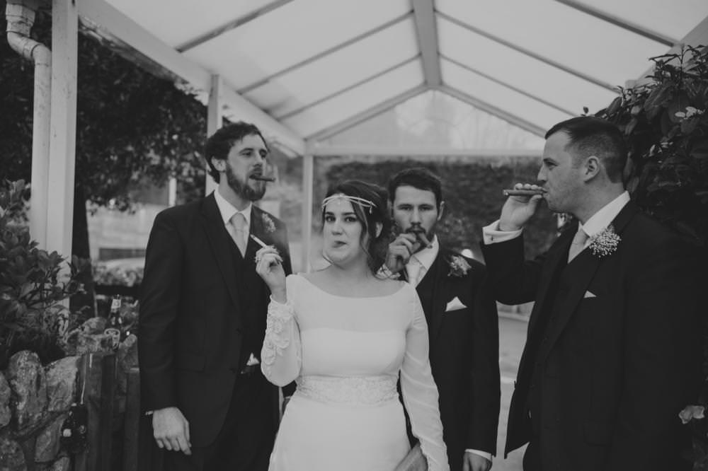 Richard Savage Photography - Home Page - Oxwich Bay Hotel, Oxwich Bay Hotel Wedding, Gower Wedding, bride and groom, bride and groom ushers, bride and groomsmen, winter wedding, alternative wedding photographer, real wedding moments